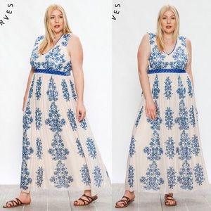 Flying Tomato New Boutique Plus Damask Dress 1x 2x